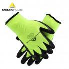 代尔塔 201753防寒乳胶发泡涂层手套 防水防切割耐磨防滑劳保手套
